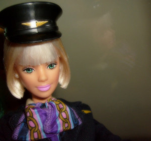 While good appearances are one of the flight attendant requirements - but looks aren't everything, says Barbie the flight attendant. Photo credit: Mauren Veras.