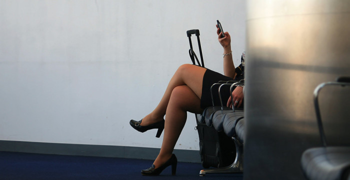 How to be a flight attendant: some days it means waiting in the terminal.